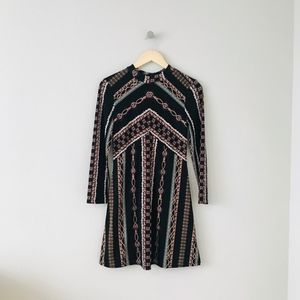 Free People Stella Printed Mini Dress
